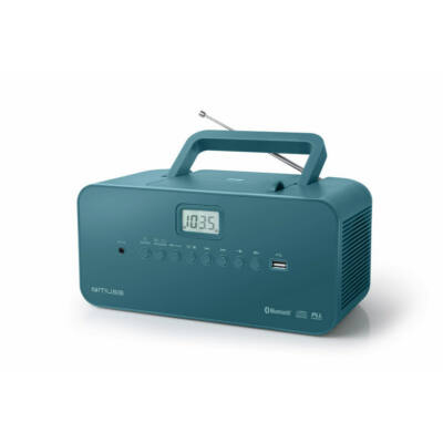 MUSE M-30BTB Türkiz színű Rádió, CD, MP3 lejátszó